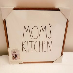 Rae Dunn Mom's Kitchen Home Decor Wall Art New!!